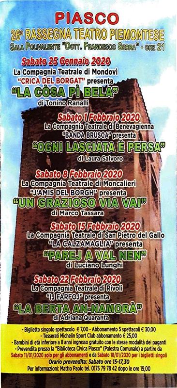 26^ Rassegna Teatro Piemontese