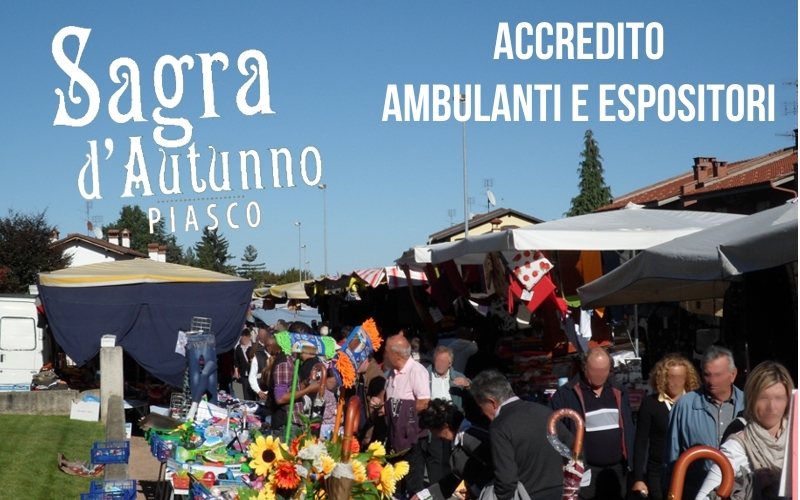 Accredito Ambulanti Sagra d'Autunno 2020