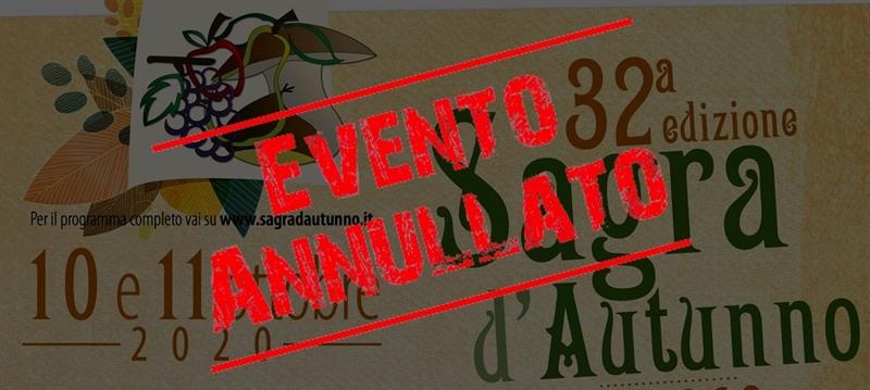 ANNULLAMENTO 32^ SAGRA D'AUTUNNO